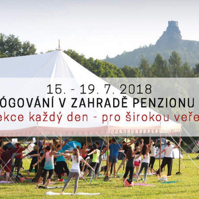 JÓGOVÁNÍ PRO VEŘEJNOST V ZAHRADĚ PENZIONU RECALL 16. – 19. ČERVENCE